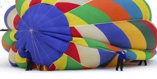 Balão hot-air liso na terra Imagem de Stock Royalty Free