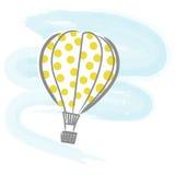Balão Hot-air + vetor Foto de Stock