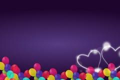 balão para o coração Fotografia de Stock Royalty Free