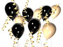 Balão preto e branco ilustração do vetor