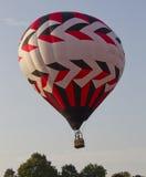Balão preto e branco vermelho Imagens de Stock Royalty Free