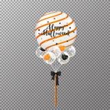 Balão realístico de Dia das Bruxas isolado no fundo transparente Ilustração Stock