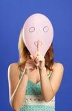 Balão surpreendido que faz o shhhhh Imagem de Stock Royalty Free