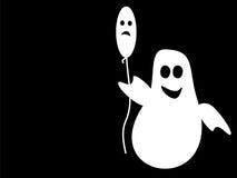 Balão triste engraçado de Ghost Dia das Bruxas Fotografia de Stock Royalty Free