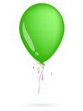 Balão verde Fotografia de Stock