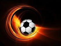 Balón ardiente del fútbol/de fútbol Fotografía de archivo libre de regalías