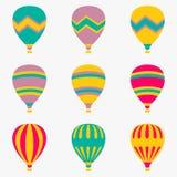 Balón de aire colorido en el fondo blanco Foto de archivo
