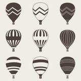 Balón de aire colorido en el fondo blanco Imagen de archivo libre de regalías
