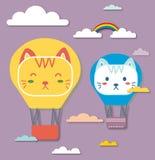 Balón de aire del gato Fotos de archivo libres de regalías