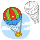 Balón de aire Página del libro de colorear libre illustration