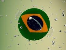 Balón de fútbol abstracto Imágenes de archivo libres de regalías