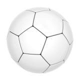 Balón de fútbol aislado Fotografía de archivo libre de regalías