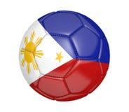 Balón de fútbol aislado, o fútbol, con la bandera de país de Filipinas Foto de archivo
