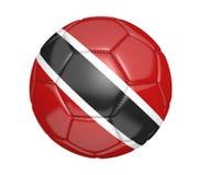 Balón de fútbol aislado, o fútbol, con la bandera de país de Trinidad and Tobago Foto de archivo