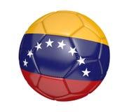 Balón de fútbol aislado, o fútbol, con la bandera de país de Venezuela Fotografía de archivo libre de regalías