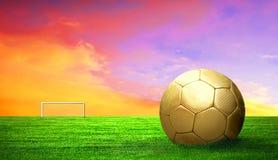 Balón de fútbol al aire libre Foto de archivo