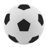 Balón de fútbol (anaranjado y azul) - aislado en blanco Imagen de archivo libre de regalías