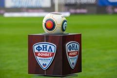 Balón de fútbol antes del juego de fútbol Fotos de archivo
