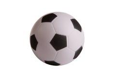 Balón de fútbol blanco negro del juguete Imagen de archivo libre de regalías