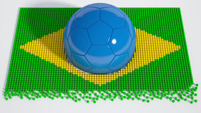 Balón de fútbol brasileño del mundial Imagen de archivo libre de regalías