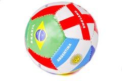 Balón de fútbol colorido Imagenes de archivo