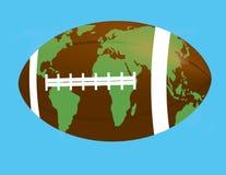 Balón de fútbol como globo Foto de archivo