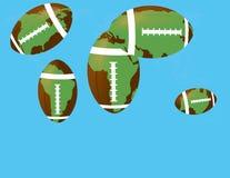 Balón de fútbol con el continente Imágenes de archivo libres de regalías