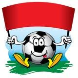 Balón de fútbol con el indicador. Vector. Foto de archivo