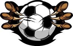 Balón de fútbol con imagen de las garras del águila Imagenes de archivo