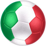 Balón de fútbol con la bandera de Italia (fotorrealista) Imagenes de archivo
