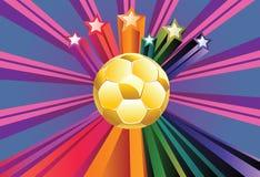 Balón de fútbol con las estrellas Fotos de archivo