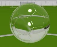 Balón de fútbol cristalino fotografía de archivo libre de regalías