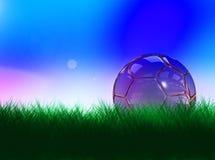 Balón de fútbol cristalino Imagenes de archivo