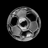Balón de fútbol de cristal Fotos de archivo libres de regalías