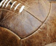 Balón de fútbol de cuero Fotografía de archivo