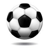 Balón de fútbol de cuero Fotos de archivo