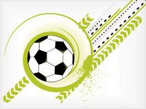 Balón de fútbol de Grunge Fotografía de archivo