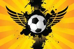 Balón de fútbol de Grunge Imágenes de archivo libres de regalías
