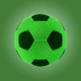 Balón de fútbol de la hierba de Eco con la trayectoria de recortes Imagen de archivo libre de regalías