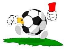 Balón de fútbol de la historieta el juez Imagen de archivo