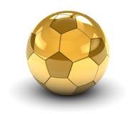 Balón de fútbol de oro Imagen de archivo