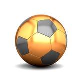 Balón de fútbol de oro Fotos de archivo