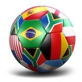 Balón de fútbol de taza de mundo Foto de archivo libre de regalías