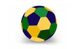 Balón de fútbol del Brasil Fotos de archivo