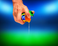 Balón de fútbol del Brasil Imágenes de archivo libres de regalías