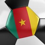 Balón de fútbol del Camerún Fotos de archivo