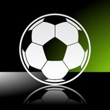 Balón de fútbol del fútbol Fotografía de archivo libre de regalías