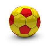 Balón de fútbol del invierno Fotos de archivo libres de regalías