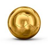 Balón de fútbol del oro Fotografía de archivo libre de regalías