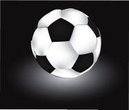 Balón de fútbol del vector Fotografía de archivo libre de regalías
